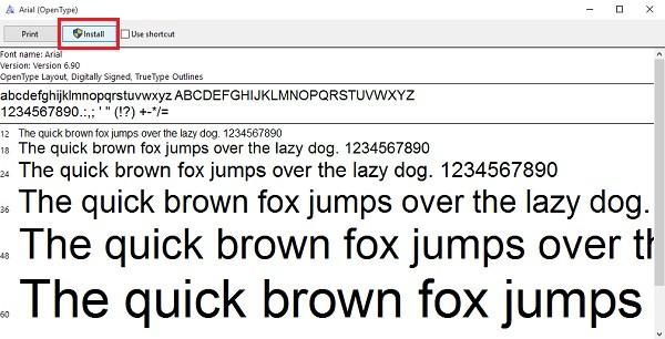 Win 10 và lỗi font chữ. Cách khắc phục