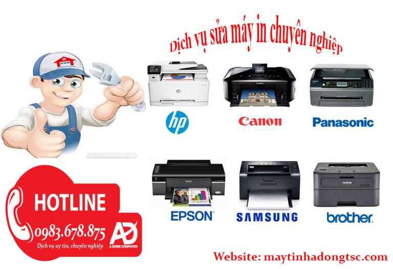 Sửa máy in tại nhà Mai Dịch