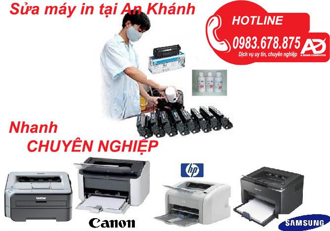 Dịch vụ sửa máy in tại An Khánh