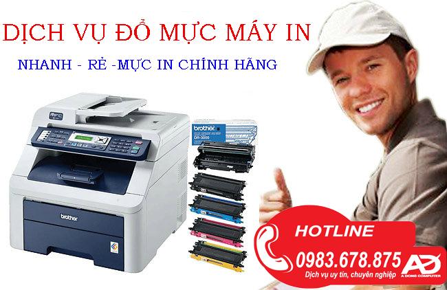 Đổ mực máy in tại nhà Hà Đồng